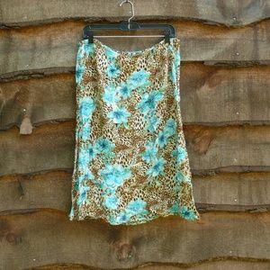 Laura Ashley Animal Print Skirt